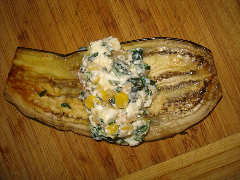 Eggplant canelloni preparation
